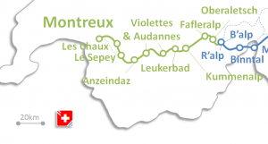 Oberwallis - Rawil - Les Diablerets - Montreux